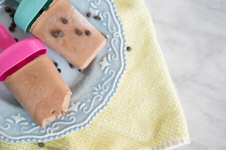 Chocolate Chip Fudgsicles Made with Coconut Milk