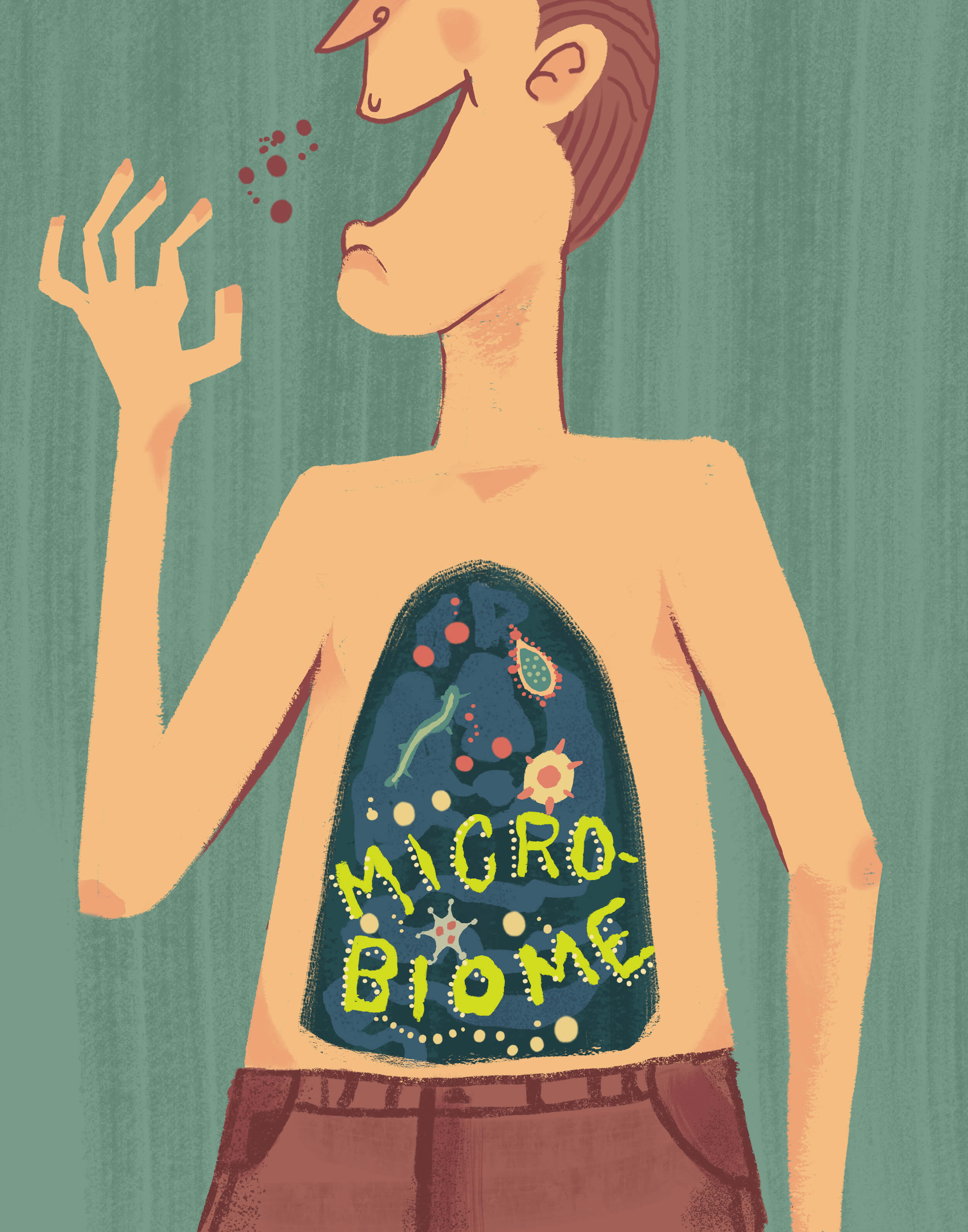 gut microbiome illustration