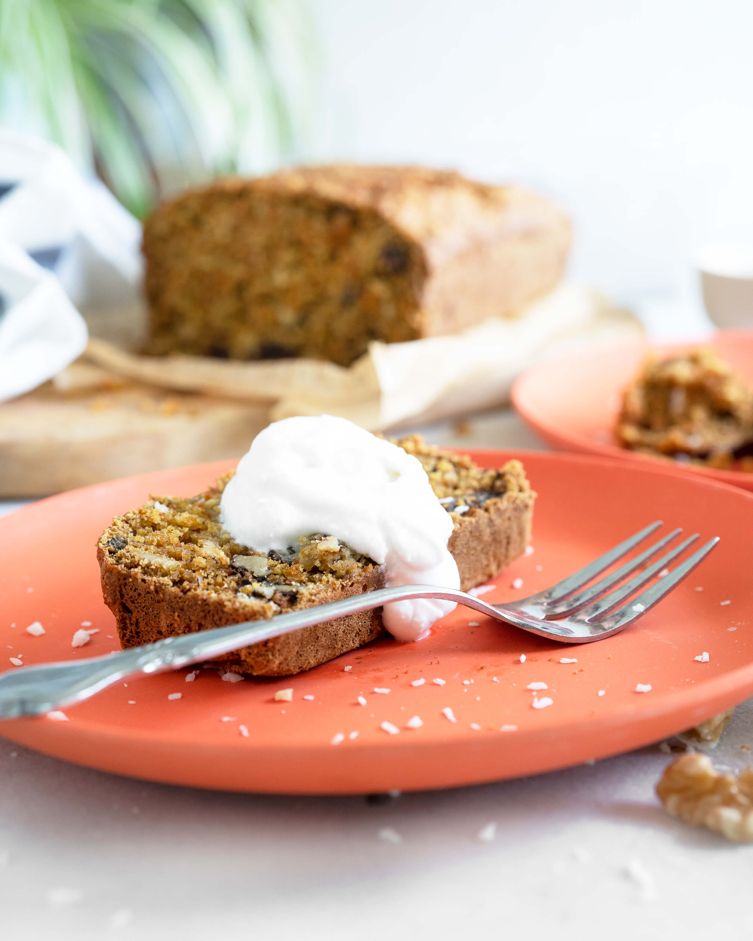 Carrot Cake Loaf with coconut yogurt